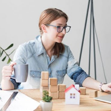 Woman Working From Home with Spectacles
