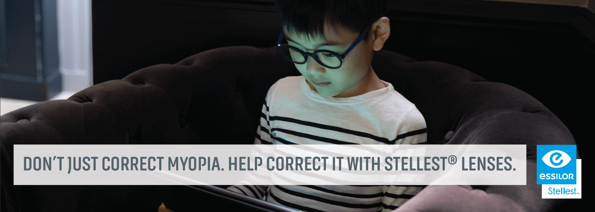 Help Correct Myopia With Stellest Lenses